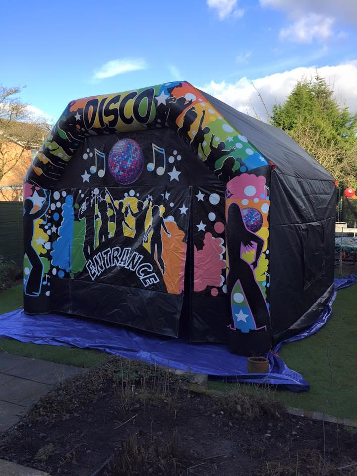 Inflatable Night Club / Disco Marquee 15x15 - Bouncy Castle Hire in Hollywood Birmingham u0026 Worcestershire & Inflatable Night Club / Disco Marquee 15x15 - Bouncy Castle Hire ...