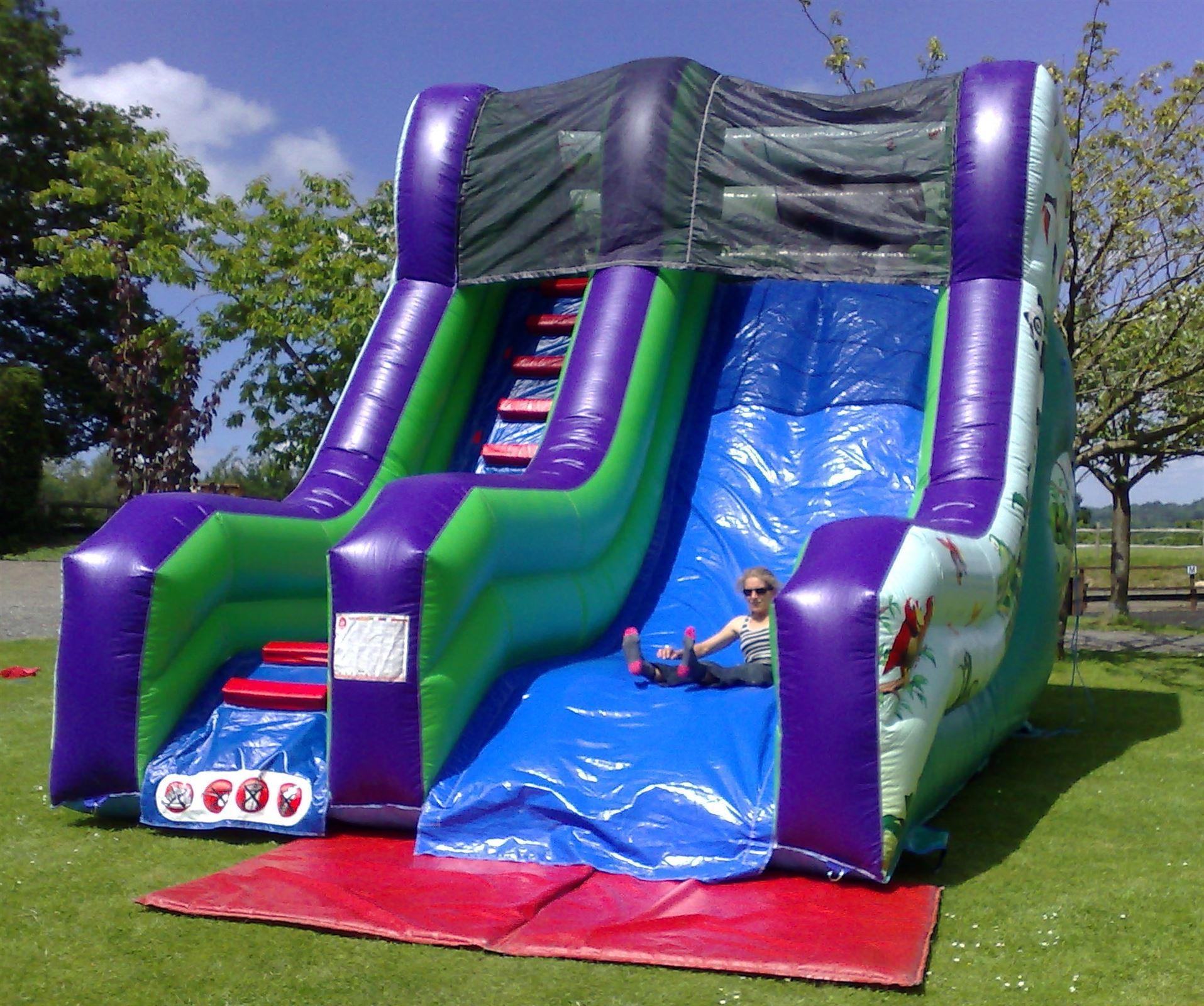 Inflatable Slide Hire Uk: 20ft High Mega Jungle Themed Inflatable Slide