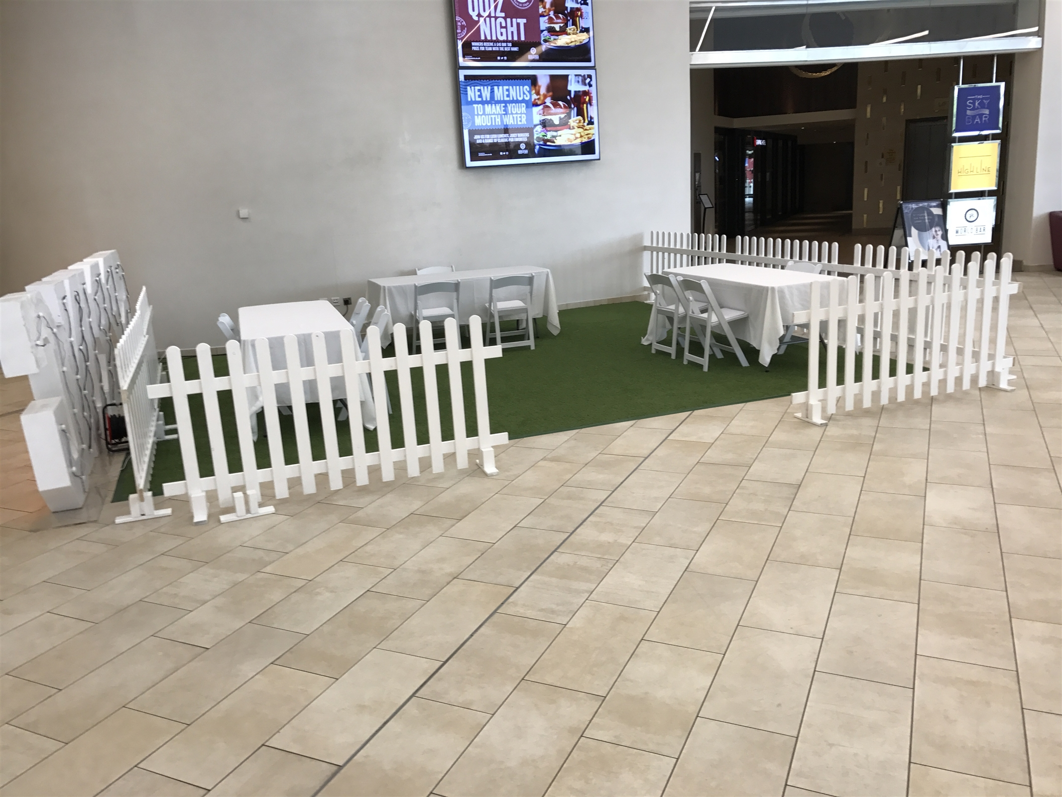 Wooden White Picket Fence 3ft Bouncy Castle Hire In