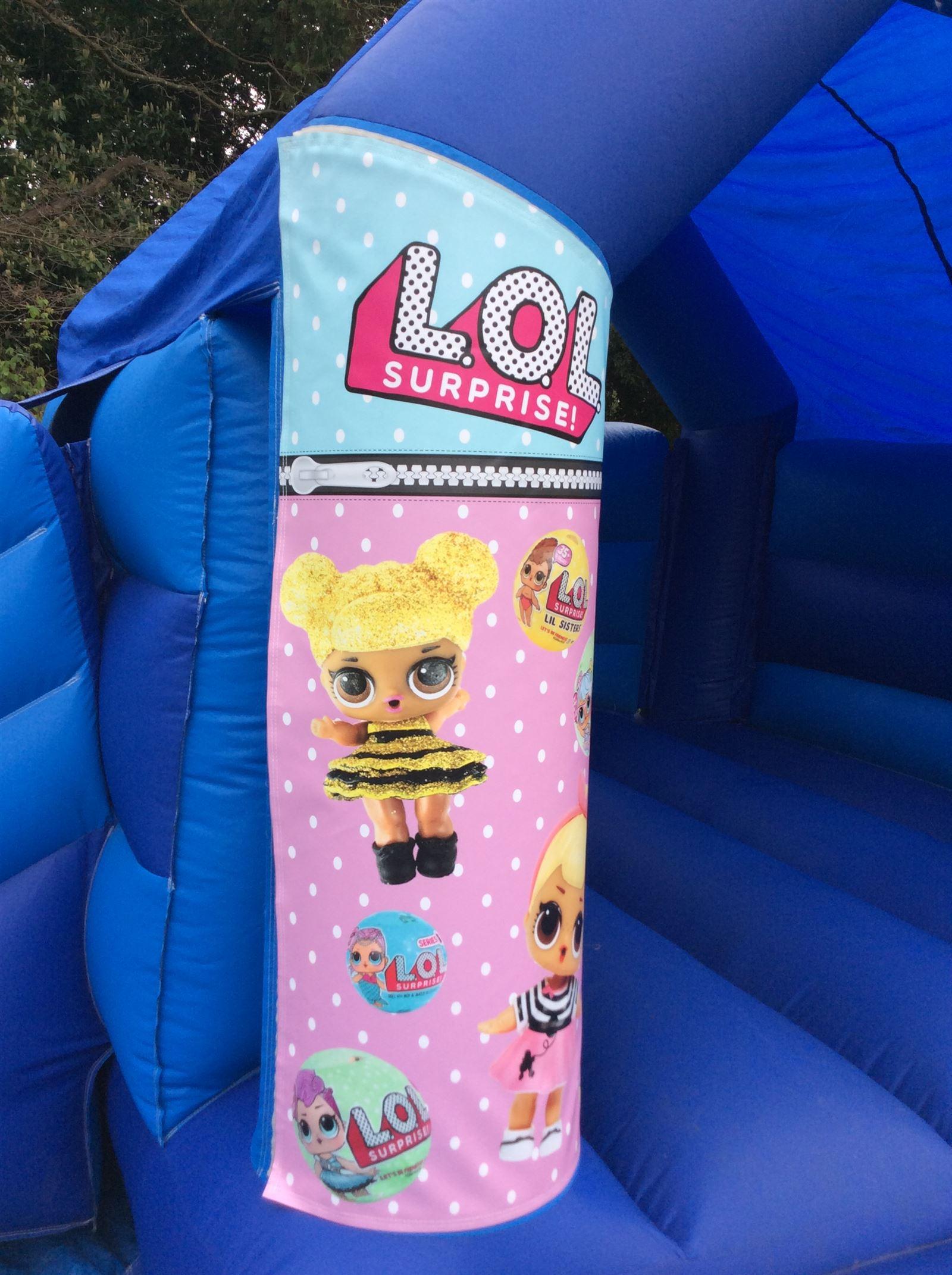 Lol Suprise Bouncy Castle 16ft Vs 15ft Bouncy Castle
