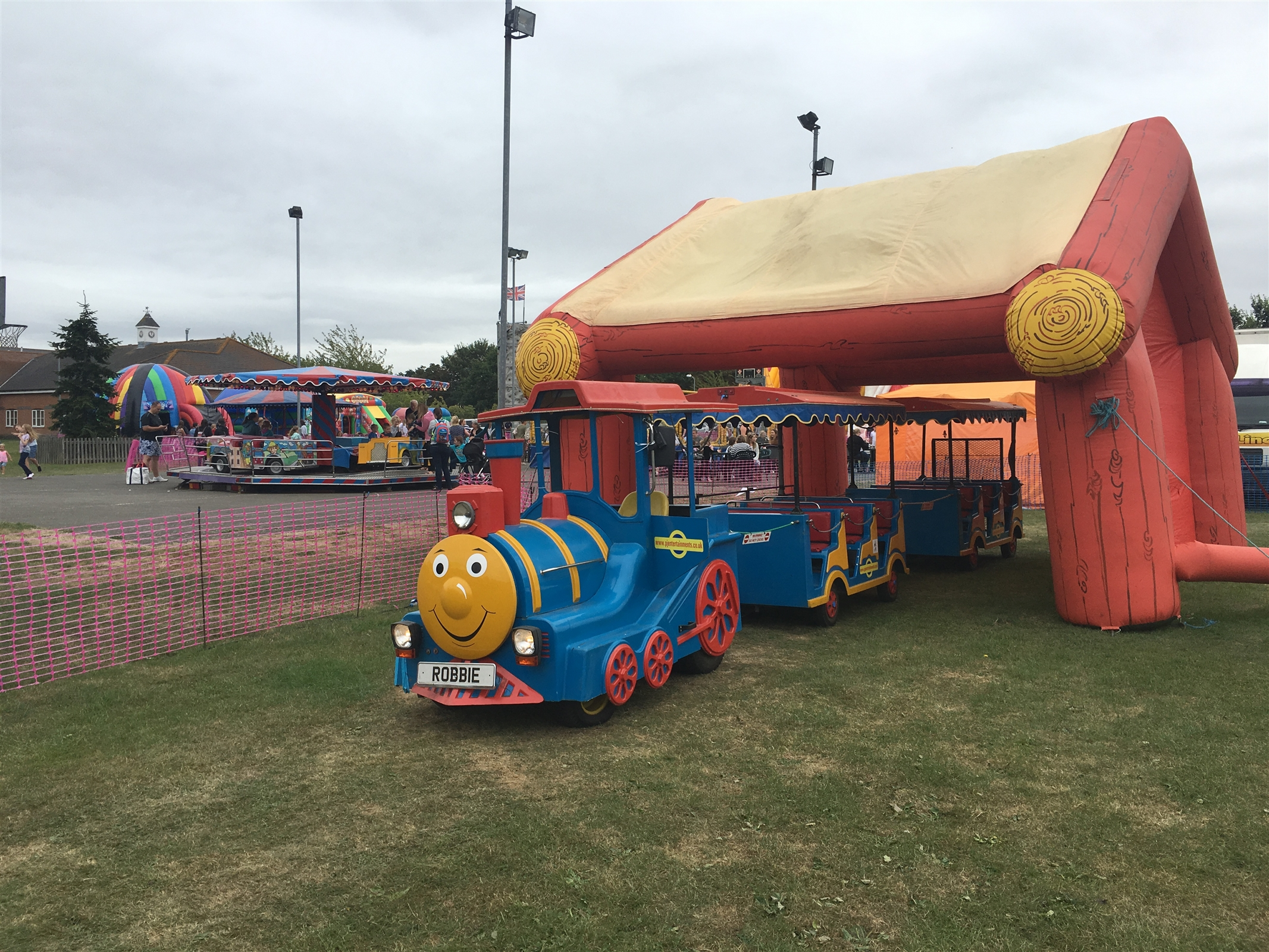 Robbie The Land Train Bouncy Castle Hire In Colchester