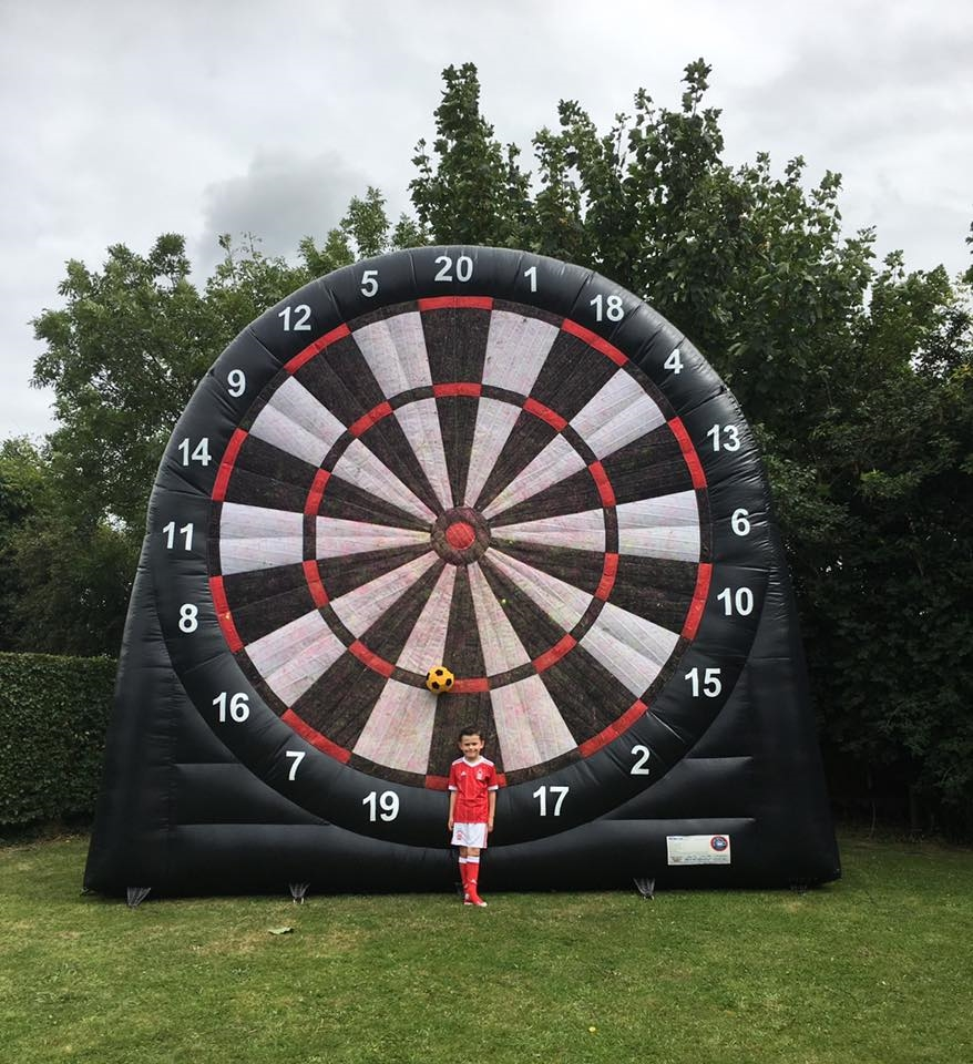Large Inflatable Dart Board Bouncy Castle Hire In