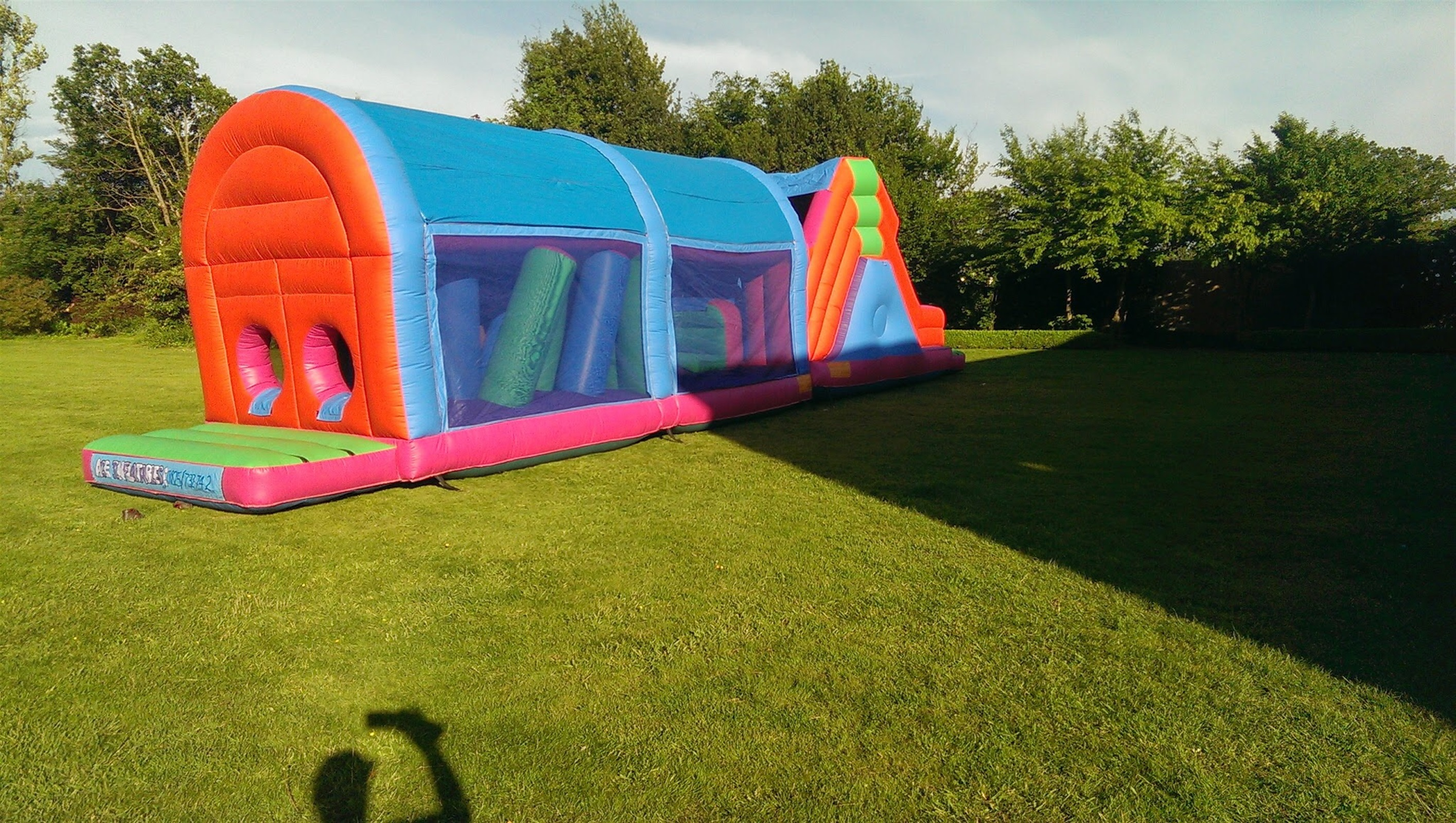 55ft Multicoloured Bouncy Assault Course Bouncy Castles Assault Courses Amp Soft Play Hire In