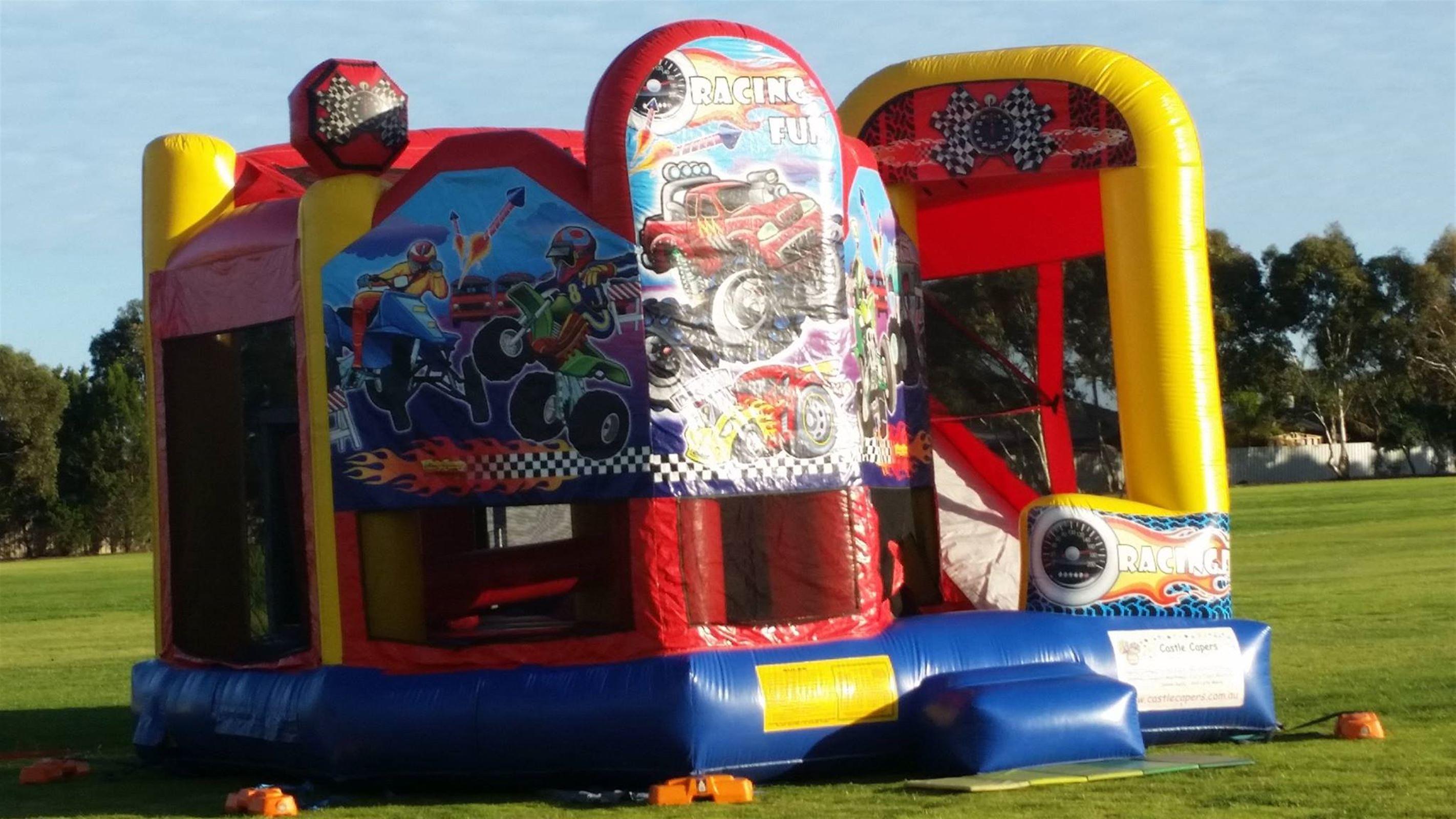 Racing Fun Xl Bouncy Castle In Adelaide