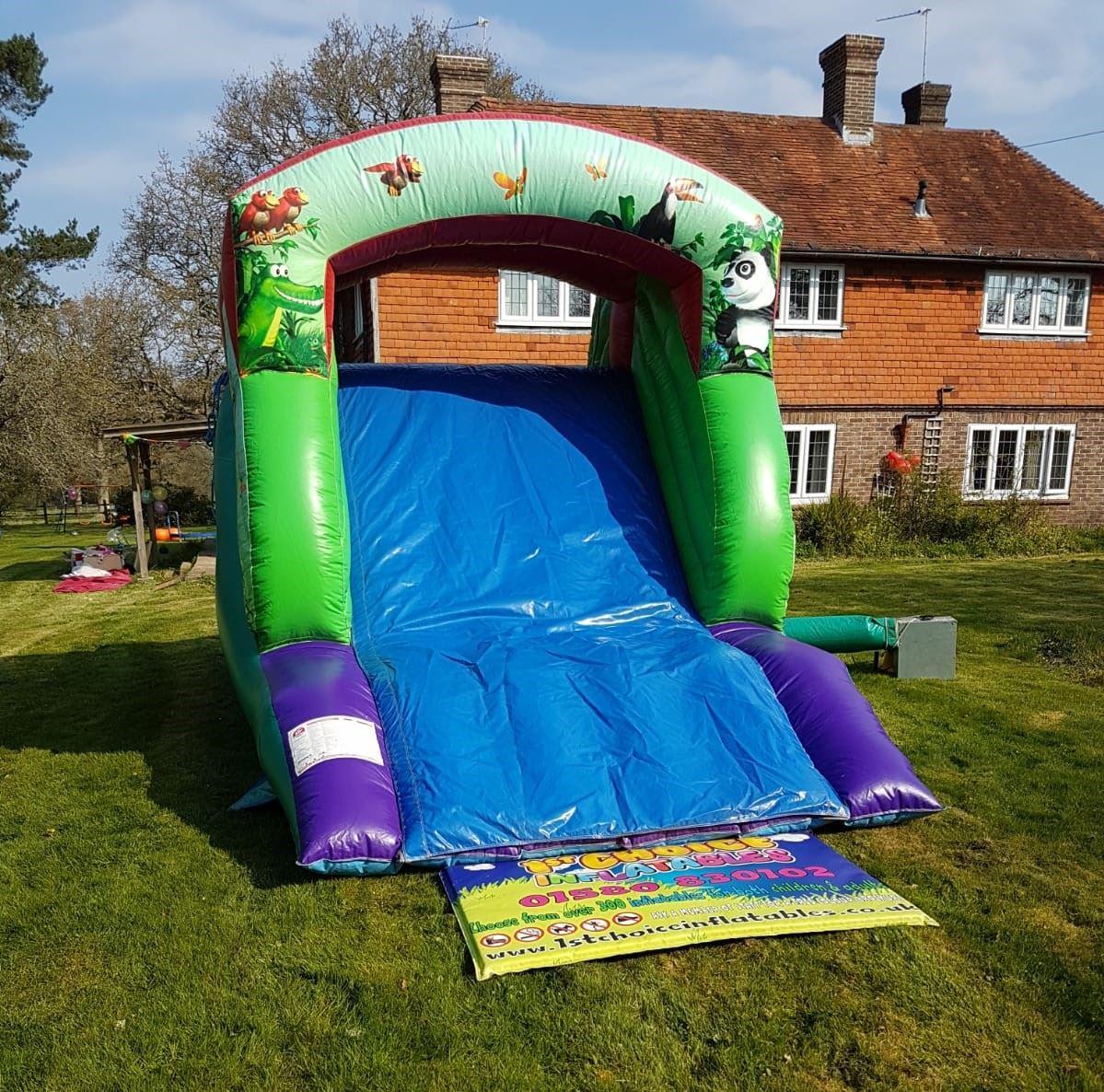 Inflatable Slide Hire Uk: Jungle Themed Inflatable Slide 11ft High