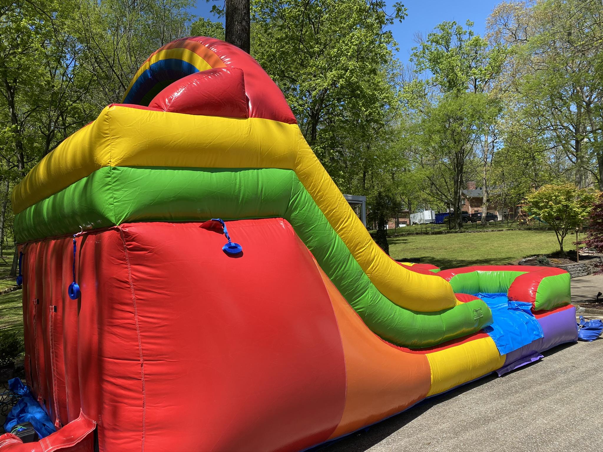 Backyard Double Water Slide - Inflatable Bounce Houses ...