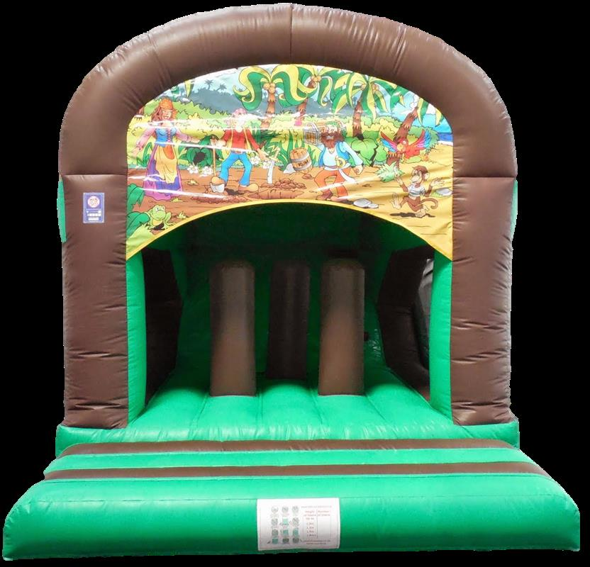 Garden Jump And Rear Slide PIRATE Bouncy Castle 1164