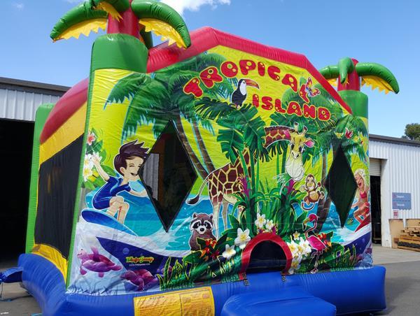 Tropical Island Bouncy Castle In Adelaide