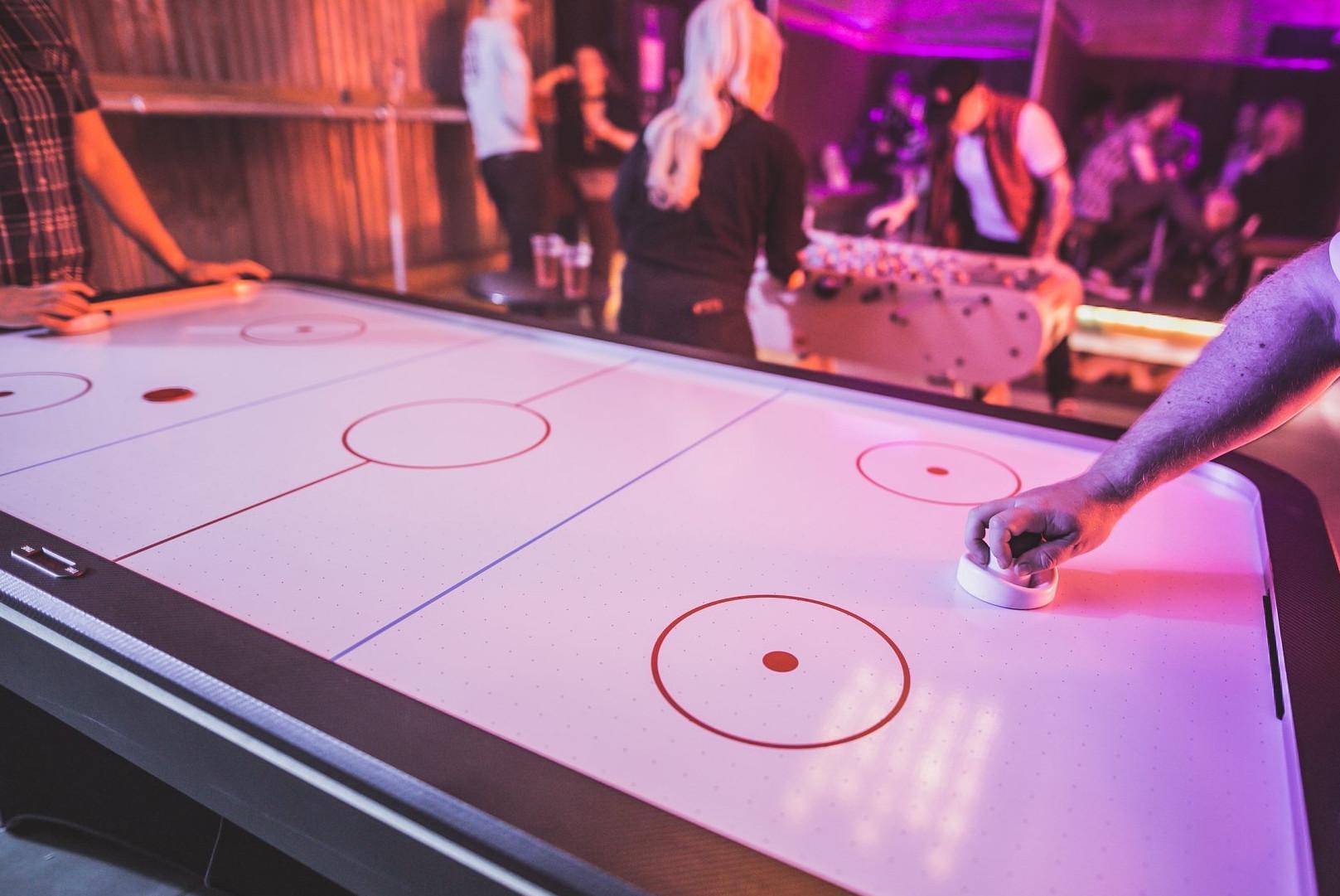 Air Hockey Table Hire Interactive Games Hire Jm Entertainment Uk