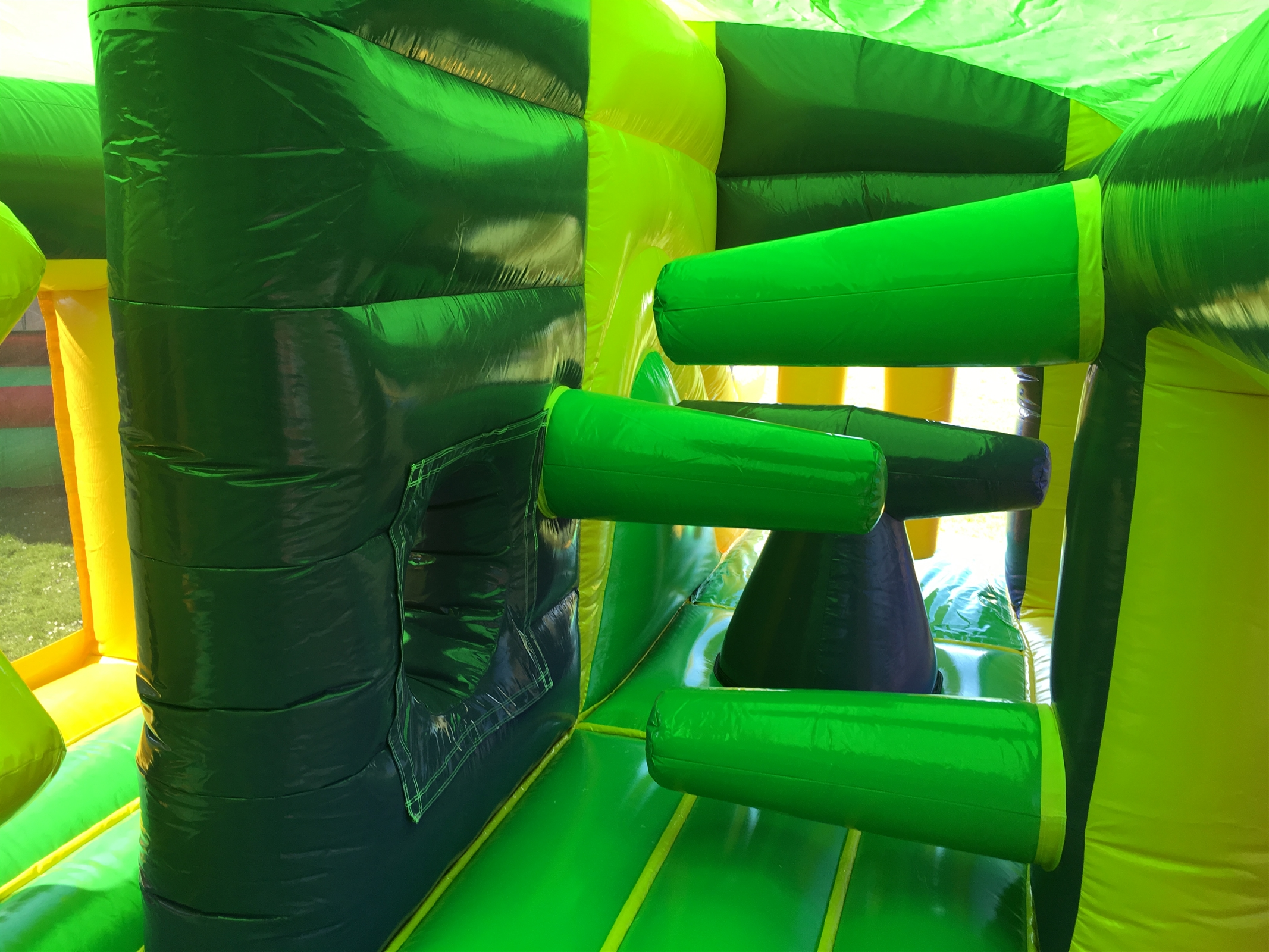 Jungle Adventure Obstacle Jump And Slide Bouncy Castle