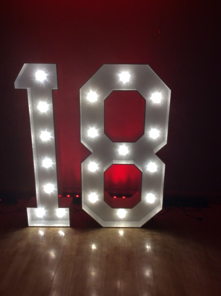 Led Love Letters Amp Numbers Bouncy Castle Hire In