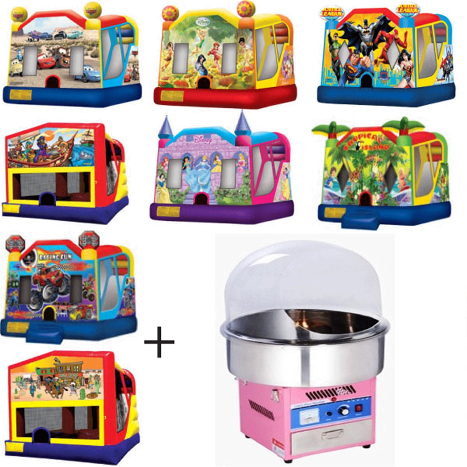 Kids Large Combo Amp Floss Package Jumping Castle Hire In