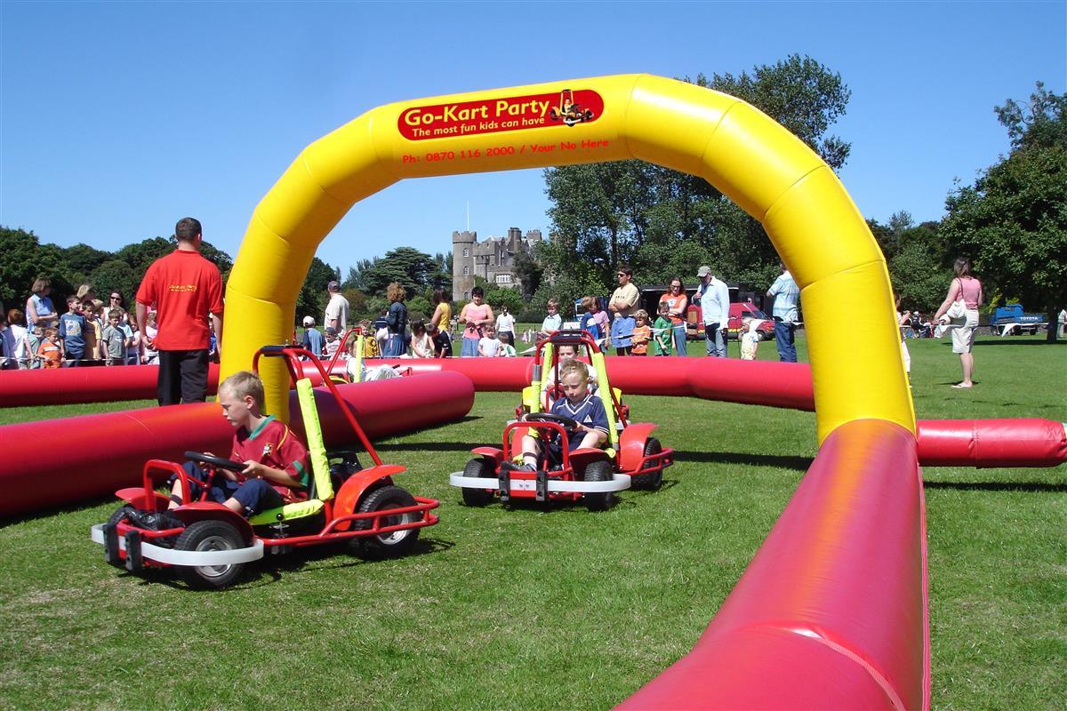 Go Kart Party Jv Bouncy Castle Hire Farnborough