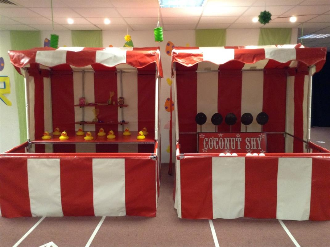 Exhibition Stall Hire : Coconut shy side stall for hire in london