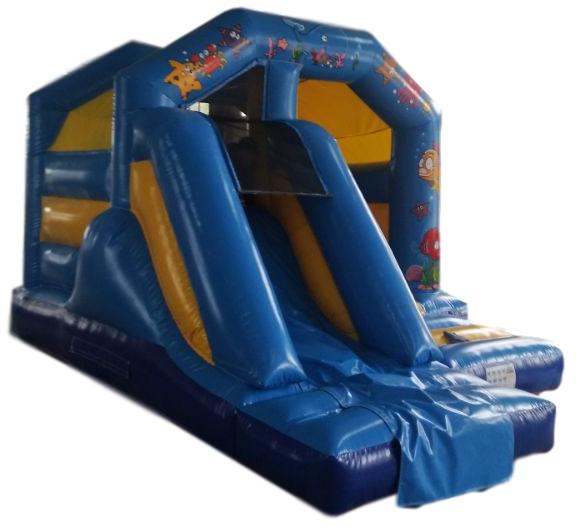 Ocean Front Slide Combo Bouncy Castle 1482