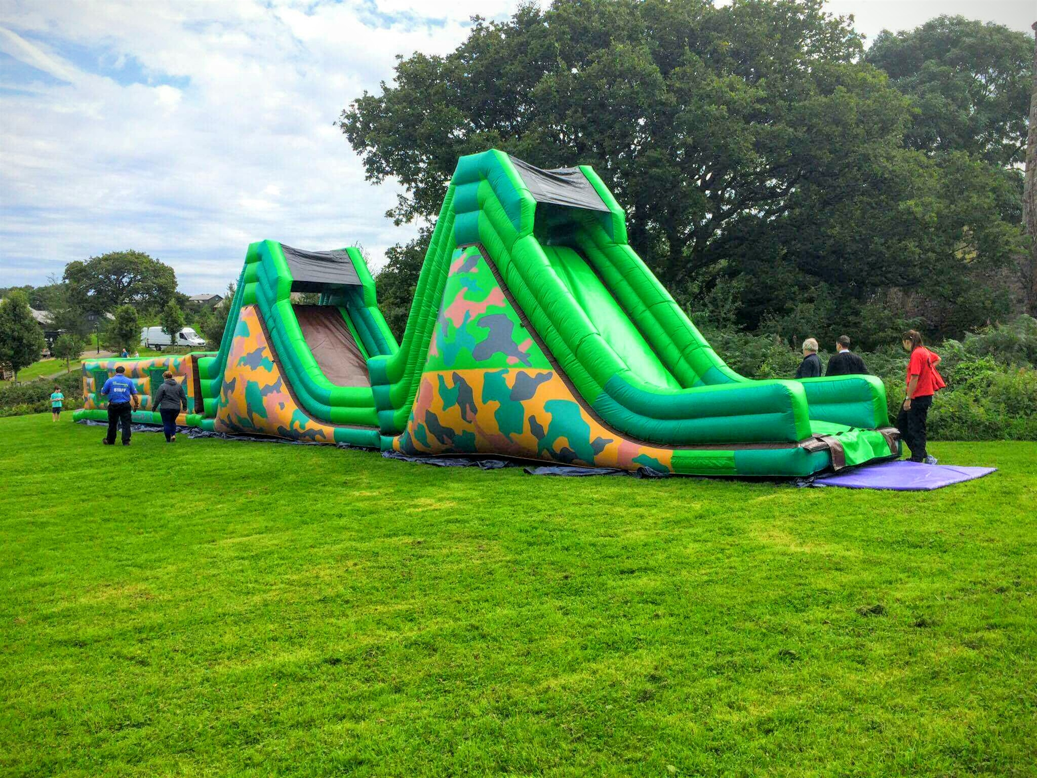 75ft Army Assault Course Bouncy Castle Hire In