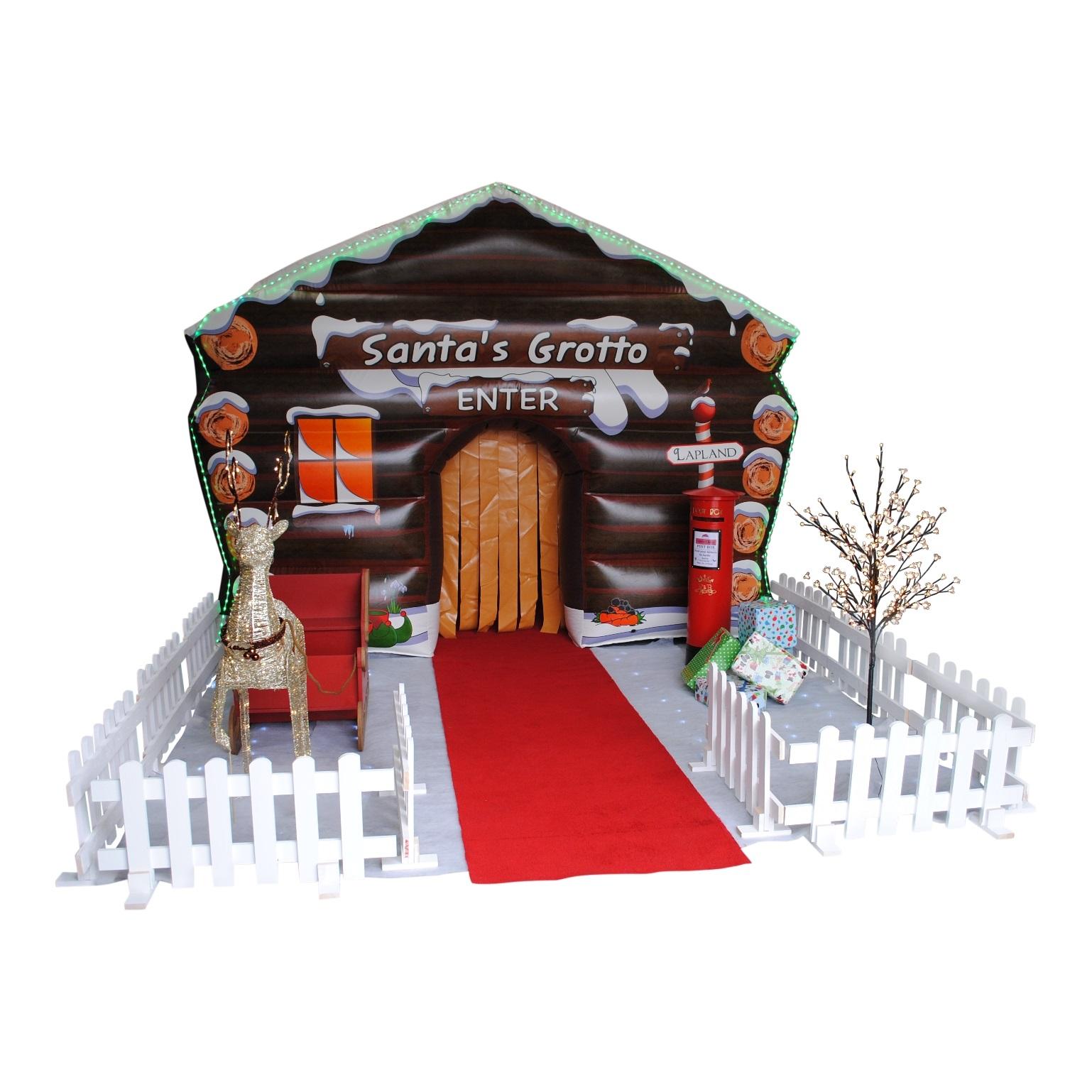 Santa s grotto inflatable jv bouncy castle hire