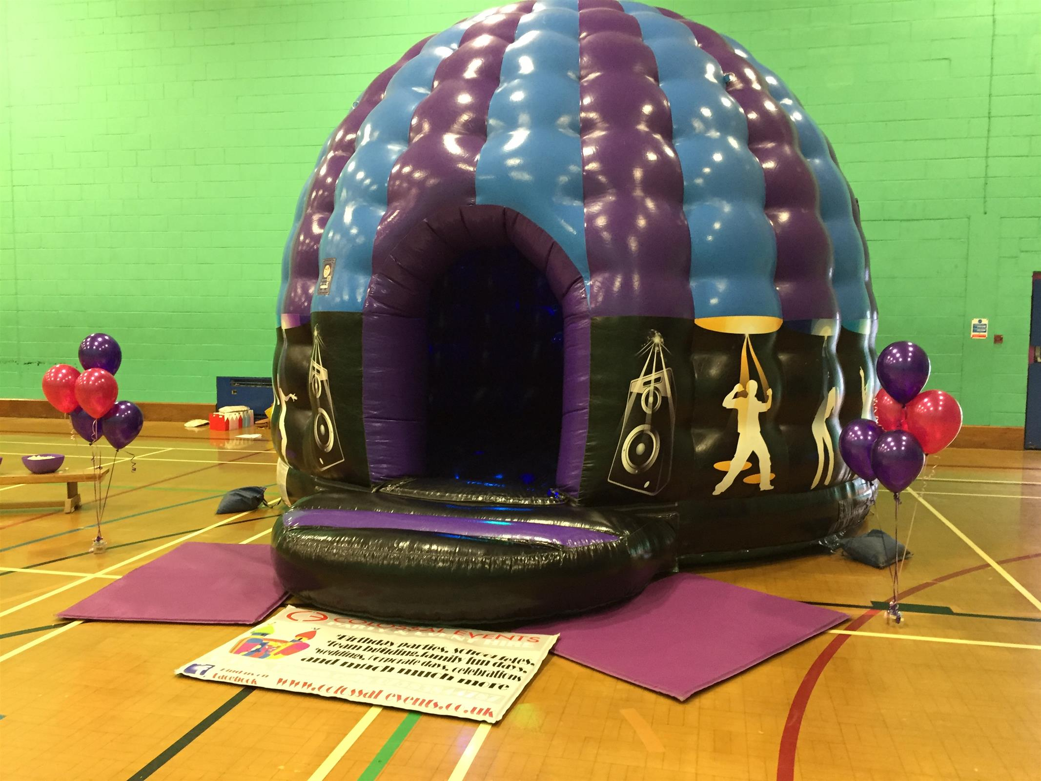 Disco Dome Purple Amp Blue Mobile Activity Hire And Events