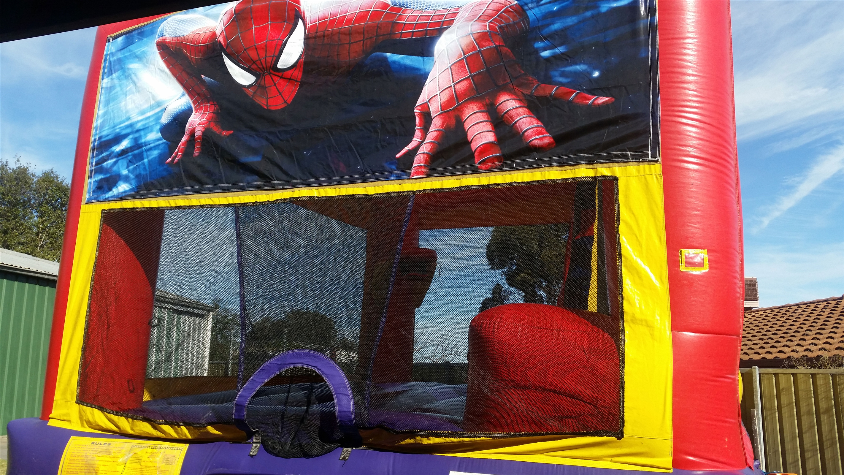 Spider Man Jumping Castle Hire In Adelaide