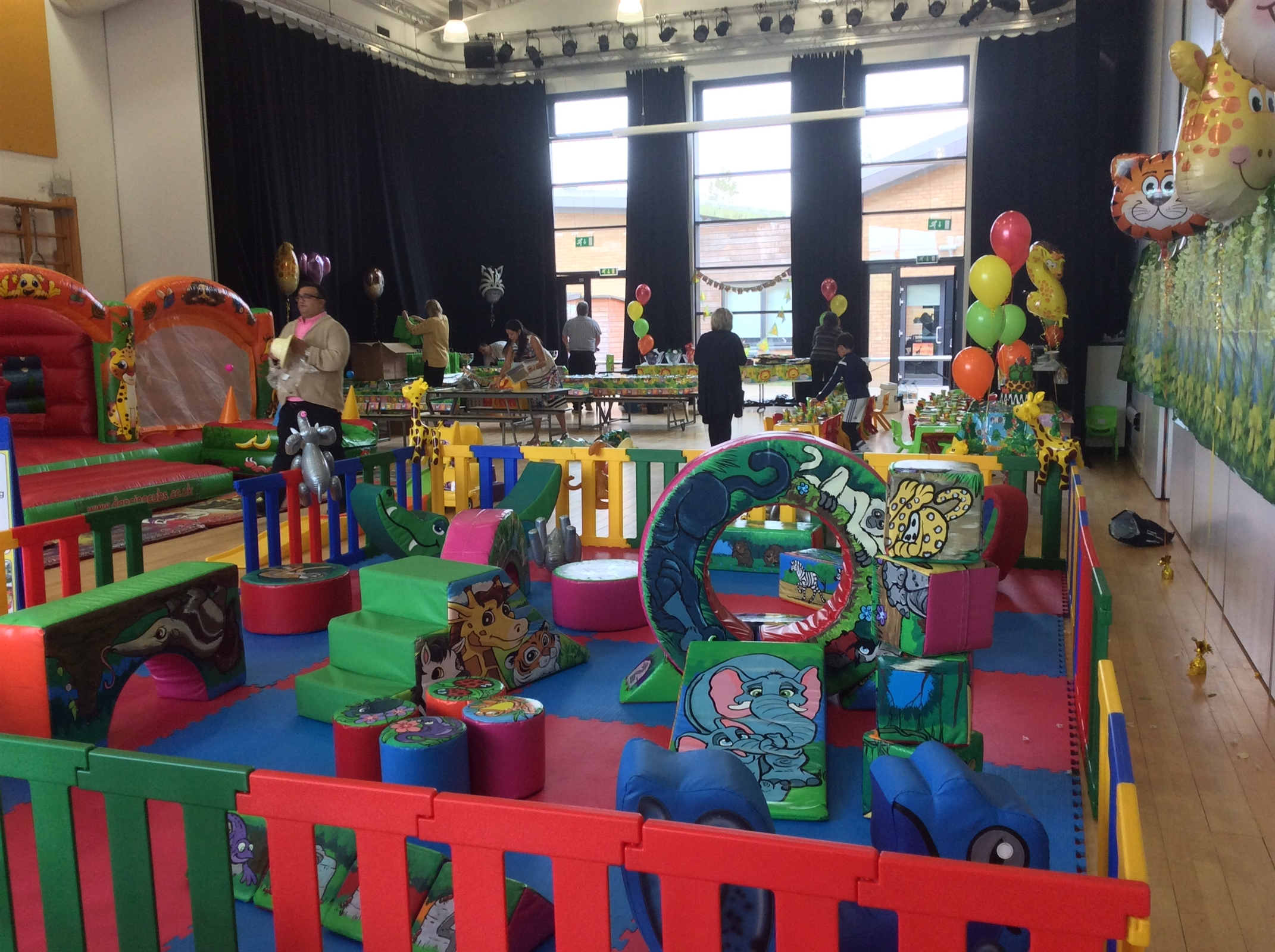 The yellow package jungle themed mobile soft play hire for Jungle themed playroom