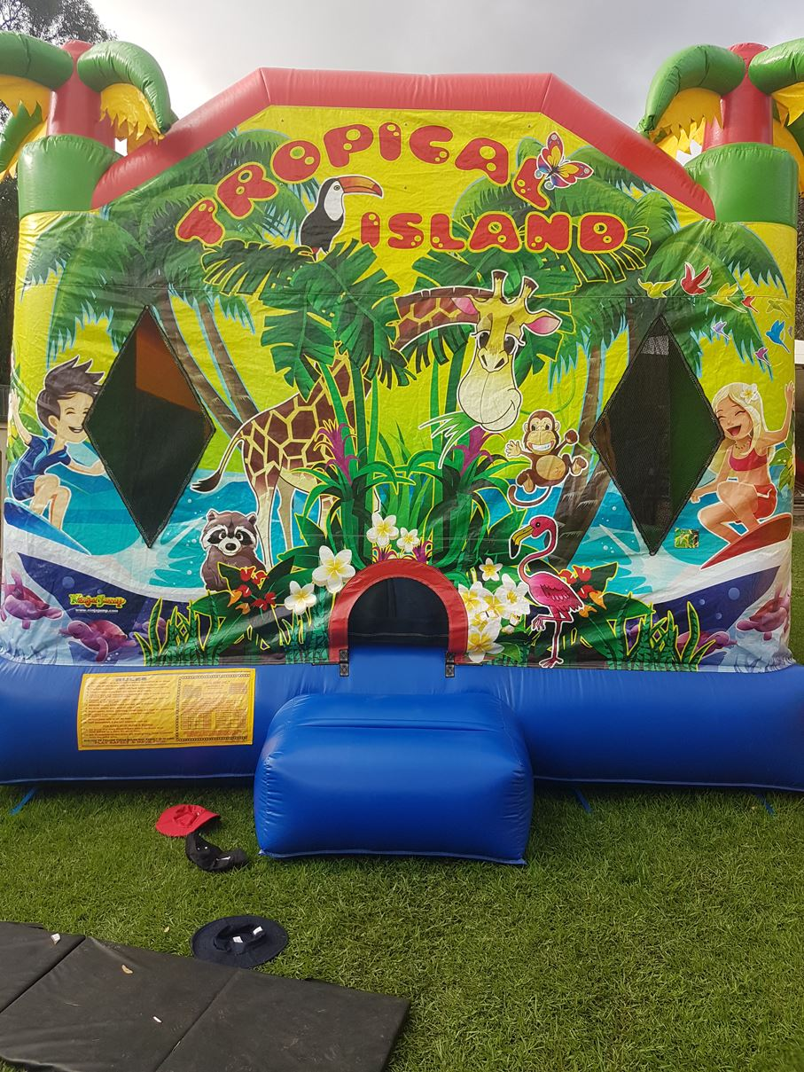Tropical Island Bouncy Castle In Adelaide