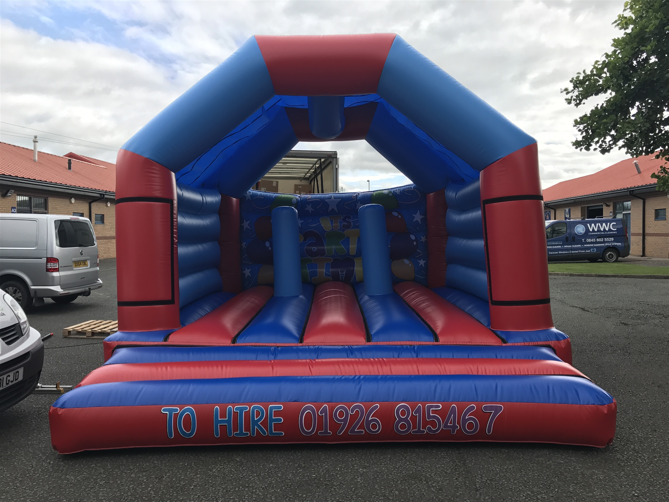 19 x 17 ft Bish Bash Castle Various Themes available! - Bouncy Castle Hire  in Southam, Leamington Spa, Warwick, Stratford-Upon-Avon, Kenilworth, Rugby