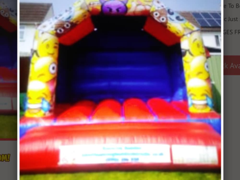 Emoji Bouncy Castle - Bouncy Castle Hire in Pudsey