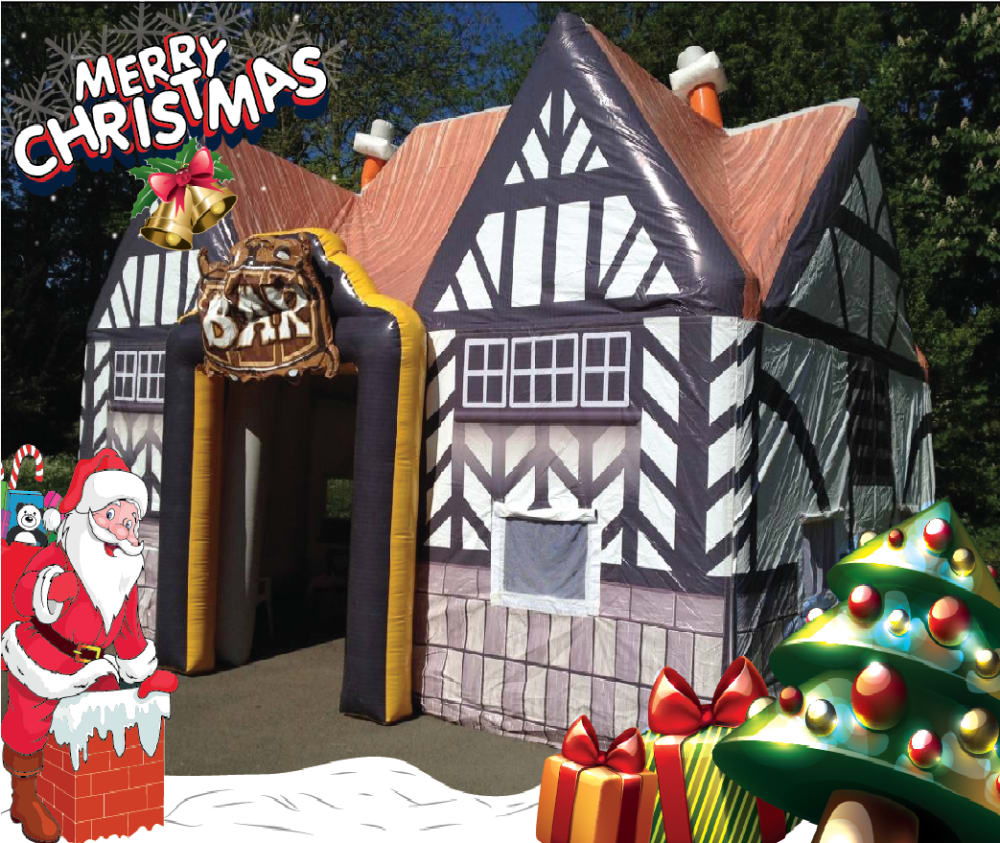 The Christmas Lodge.Bouncy Castle Inflatable Hire In Leeds Wakefield