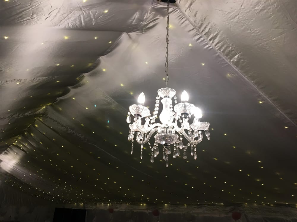 Chandeliers marquee hire in nottingham derby leicester lincoln chandeliers aloadofball Image collections