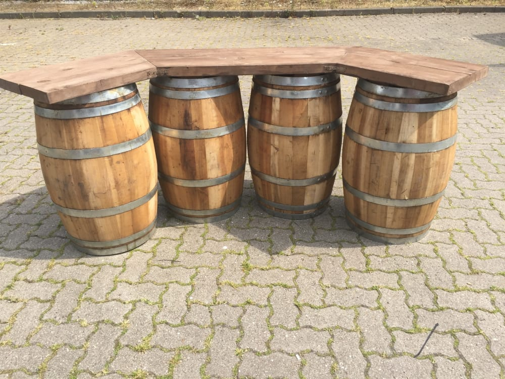 Beer Barrel Wooden Bar Large Bouncy Castle Hire In Coventry