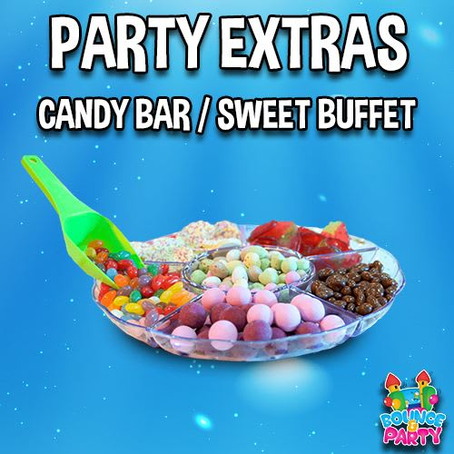 Candy Bar Sweet Buffet Bouncy Castle Hire Childrens