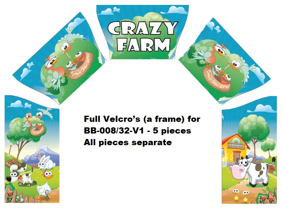 Full velcros (a frame) for BB-008/32-V1 - 5 piece - farm - Bouncy ...