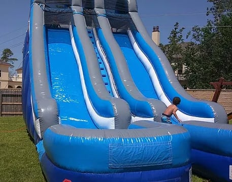 Big Blue Water Slide 24t 18w 36l Water Slides Bounce Houses Obstacle Courses Interactives In Houston Texas