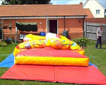 How do you inflate your bouncy castles?