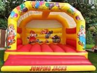 Clown Arch bouncy castle