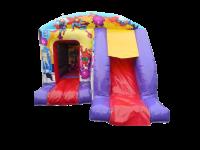 13ft x 18ft Childrens Super Hero Themed Bouncy Castle Slide Combo
