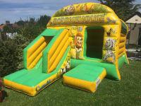 Jungle Theme Front slide Bouncy Castle Combo