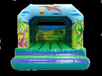 13ft x 13ft Childrens Dinosaur Themed Bouncy Castle