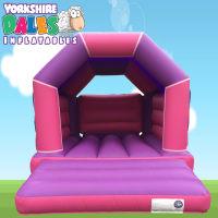 Plain Pink & Purple Bouncy Castle #<ul><li>11ft X 15ft</li><li>just £55 On Week Days</li><li>children Only</li></ul>