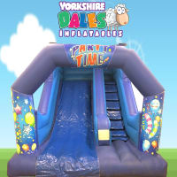 Party Time Childrens Inflatable Slide - 14ft