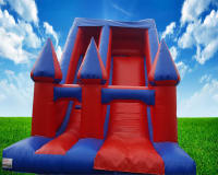 Red / Blue Inflatable Slide