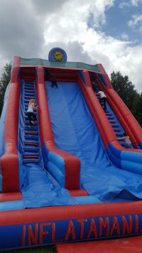 32 Foot High Inflatable Mega Slide For Event Hire