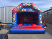 15X15ft Adult smiley faces bouncy castle