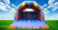 New Party Time Purple / Orange Adult Bouncy Castle