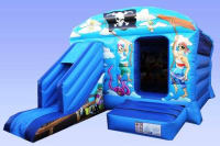 13ft*18ft Pirate Bouncy Castle with Slide