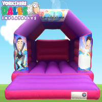 Wedding Bouncy Castle - Pink & Purple#<ul><li>11ft x 15ft</li><li>Just £55 on Week Days</li><li>Children Only</li></ul>
