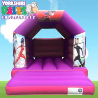 Miraculous Bouncy Castle - Pink & Purple #<ul><li>11ft x 15ft</li><li>Just £55 on Week Days</li><li>Children Only</li></ul>