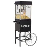 Black Popcorn Cart