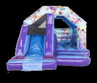12ft x 15ft Childrens Party Themed Bouncy Castle Slide Combo