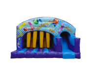16ft x 17ft Childrens Party Themed Obstacle Bouncy Castle Slide Combo#NEW FOR 2017!